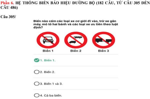 bộ 600 câu hỏi thi bằng lái xe b2