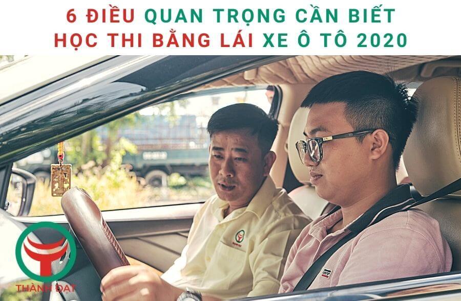 Tổng hợp thông tin chính xác nhất về thi bằng lái xe ô tô 2020