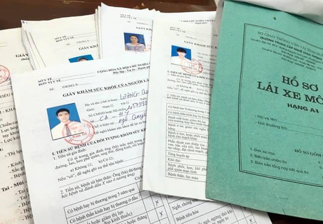 hồ sơ thù tục đăng ký học bằng lái B2 năm 2021