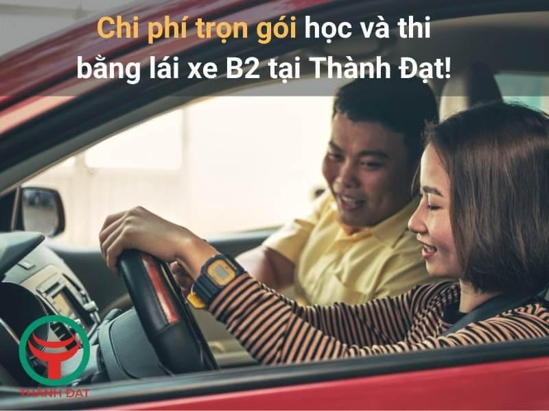 Chi phí học và thi bằng lái xe B2 2021